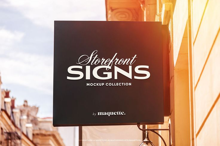 """Maquette represents the elegant storefront Square Storefront Sign mockup as a part of """"Storefront Square Storefront Sign s"""" mockup collection."""
