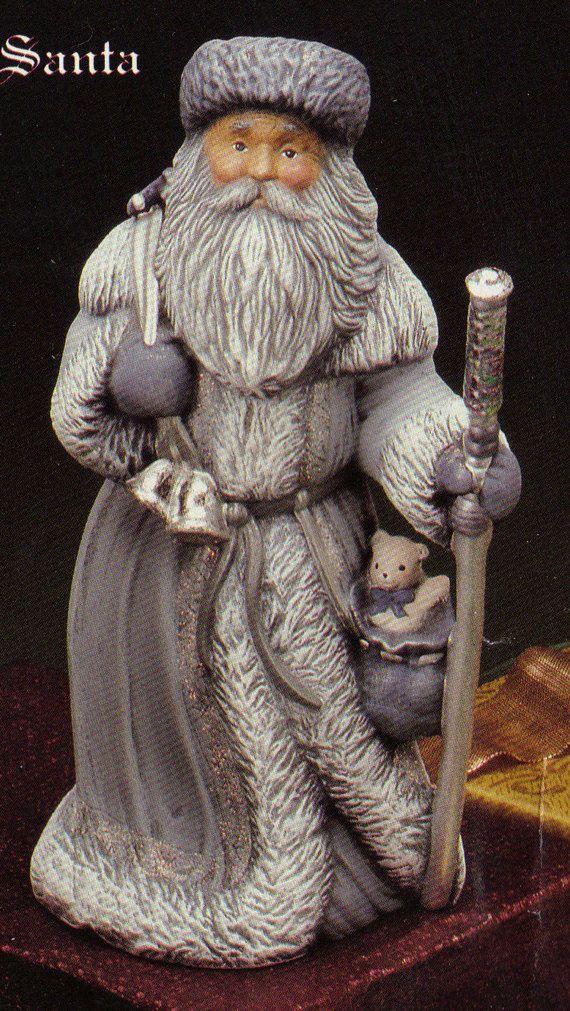 Old World Russian Santa  Collectible ceramic bisque by TSoriginals, $10.25