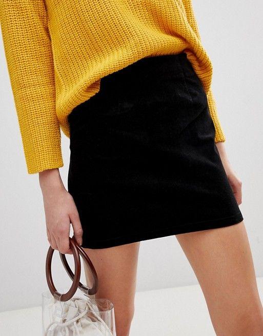 83900a510688de Warehouse a-line velvet skirt in black in 2019 | Christmas list 2018 ...