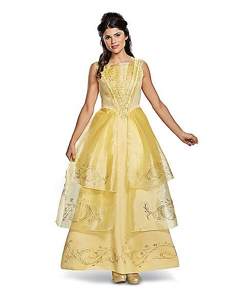 Adult Belle Costume Deluxe - Beauty and the Beast Movie - Spirithalloween.com