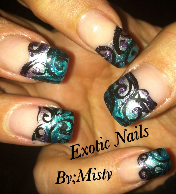 41 best Nail Art, Scroll images on Pinterest | Cute nails, Nail ...