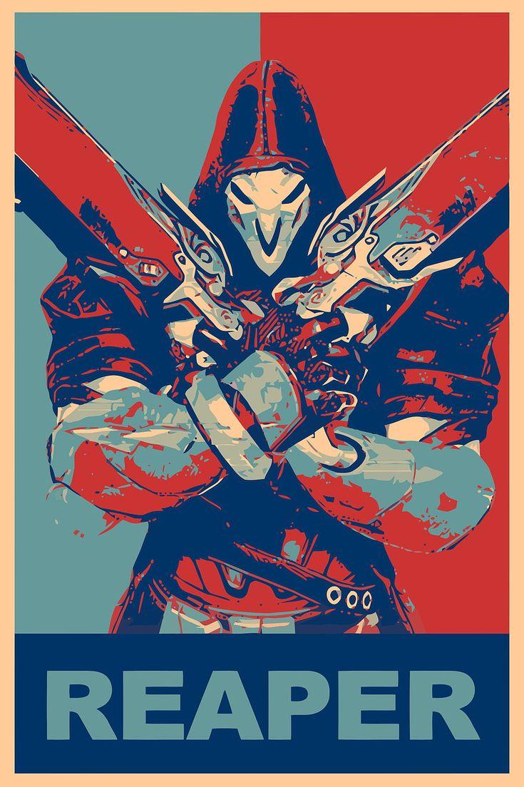 Reaper wallpaper, propaganda, Reaper (Overwatch