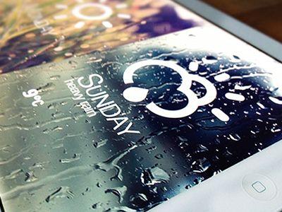 Dribbble - Weather application for iPad by Kostya Kozak