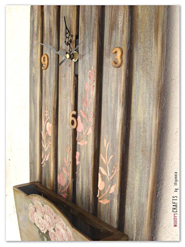 Ξύλινο χειροποίητο ρολόι τοίχου-φακελοθήκη   Ρολόγια Τοίχου   Διακοσμητικά Τοίχου   Woody's Crafts by Ifigeneia   Δες περισσότερα στη διεύθυνση: http://j.mp/woodys-crafts-gallery-rologia-toixou