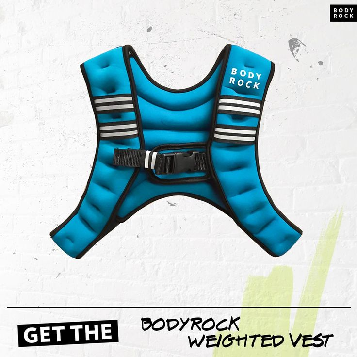 Take your workouts to the next level with the BodyRock weighted vest! For all your workout equipment needs: BodyRock!