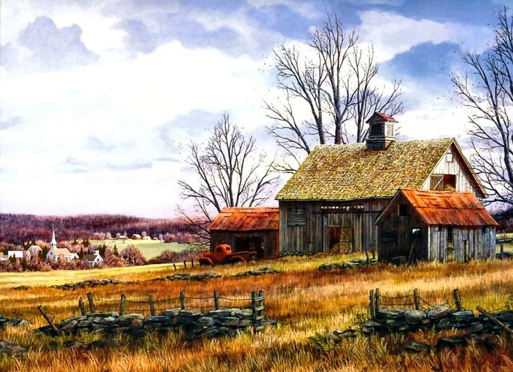 Thanksgiving Day   Art: Charming Country Scenes ... - photo#4