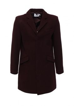 Пальто Topman, цвет: бордовый. Артикул: TO030EMLSO39. Мужская одежда / Верхняя одежда / Пальто