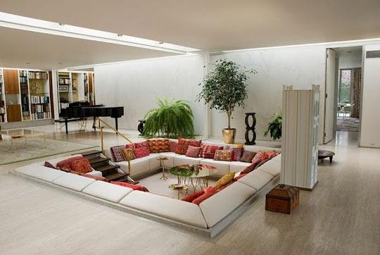 2-1-millerhousesarahcatherine_rect540: Interior Design, Decor, Ideas, Livingrooms, Living Rooms, Dream House, Sunken Living Room, Conversation Pit, Space