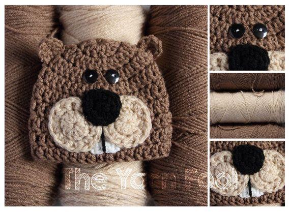 Newborn, Infant, Youth, Teen, Adult Sized Crochet Beaver Hat