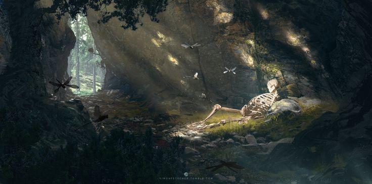 ArtStation - Skeleton Cave, Simon Fetscher