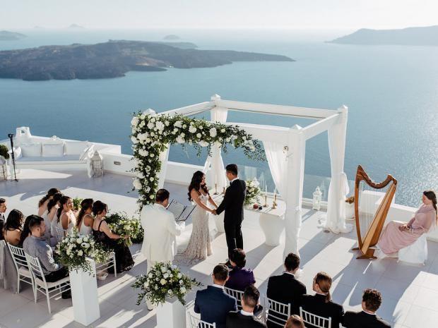 Tie The Knot In Santorini Portfolio Real Santorini Weddings And Inspiration Santorini Wedding Greece Wedding Classy Wedding