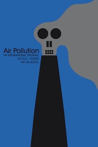 Air Pollution Poster for Eco Art: Graphic Design for Change, Riverside Art Museum- Riverside