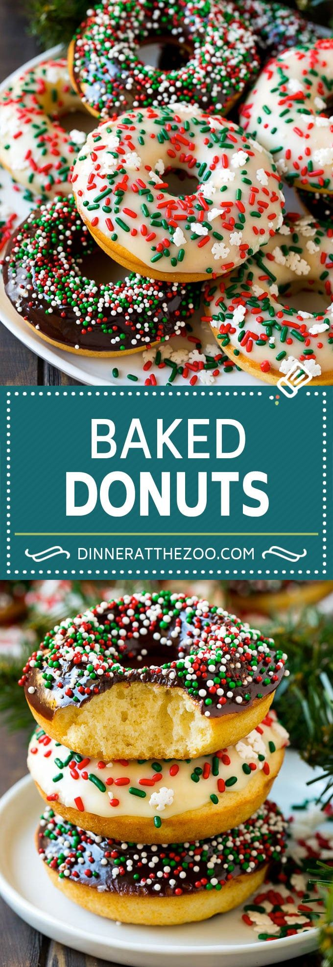 Baked Donuts Recipe | Cake Donuts | Chocolate Donuts | Sprinkle Donuts #donuts #…
