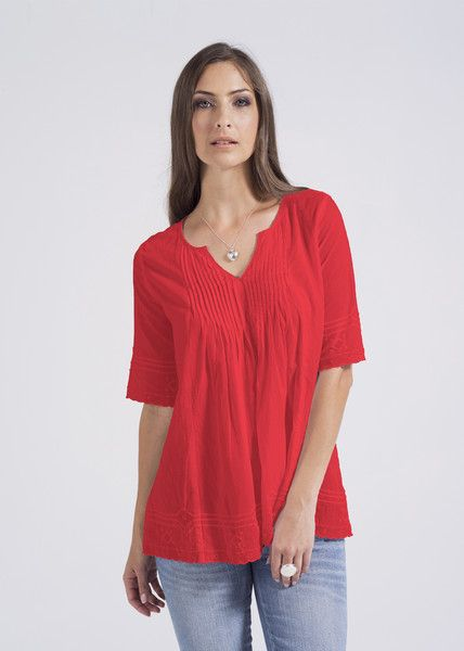 Red Lisa top from the High End Summer Look Book of KAJA Clothing