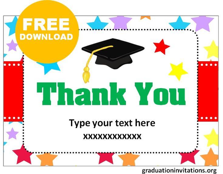 Free printable graduation thank you cards templates
