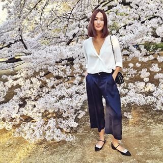 Or the time she looked better than the prettiest blossoms in Tokyo. | 22 Times Gary Pepper Girl's Instagram Inspired You To Live Your Best Life