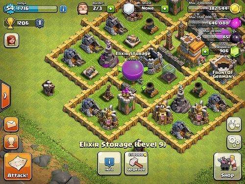 Clash of Clans Heads-Up Display: screenshots, UI