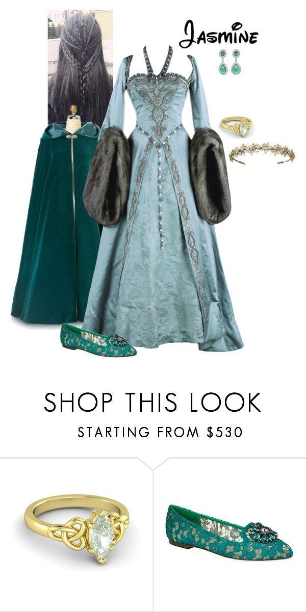 """Disney Renaissance Princess - Jasmine"" by briony-jae ❤ liked on Polyvore featuring Dolce&Gabbana"