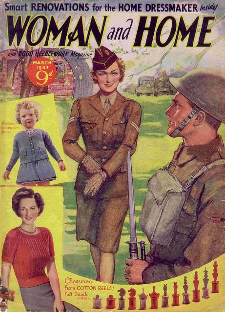 The March 1943 cover of Woman and Home magazine.