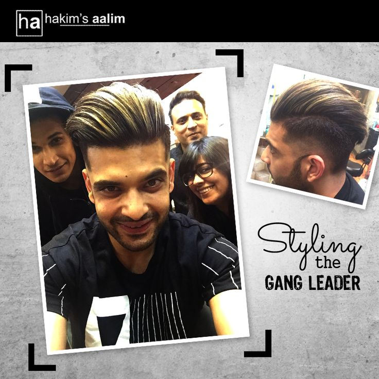 A curvy fade and an undercut with Matt ash highlights, is the perfect look for Karan Kundra, the Roadies gang leader.  Haircut by Abbas - Art director Colour by Nida - Art director