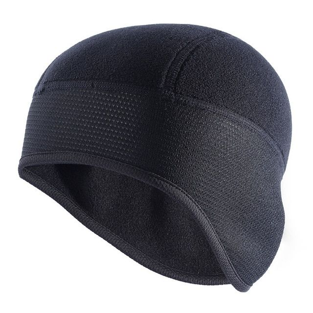 Men/'s Outdoor Cycling Windproof Beanie Hat Winter Soft Warm Fleece Skull Cap