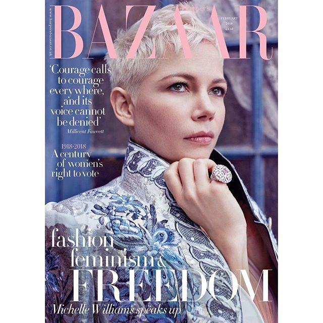 Introducing our February issue newsstand cover starring Michelle Williams out 3 January. With the issue comes The Ultimate Travel Guide 2018 featuring the 100 greatest hotels in the world. (Michelle wears @louisvuitton was styled by @leithclark and photographed by @agatapospieszynska) #MichelleWilliams #FebruaryIssue #Travel via HARPER'S BAZAAR UK MAGAZINE OFFICIAL INSTAGRAM - Fashion Campaigns  Haute Couture  Advertising  Editorial Photography  Magazine Cover Designs  Supermodels  Runway…
