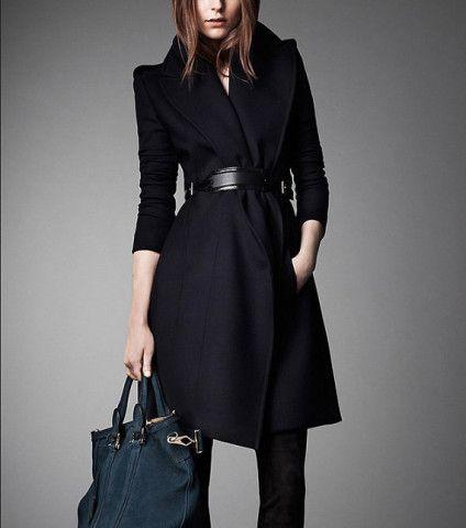 Winter Coat Black Coat Long Wool Coat Winter Jacket Long Sleeve Cashmere Coat S-XL