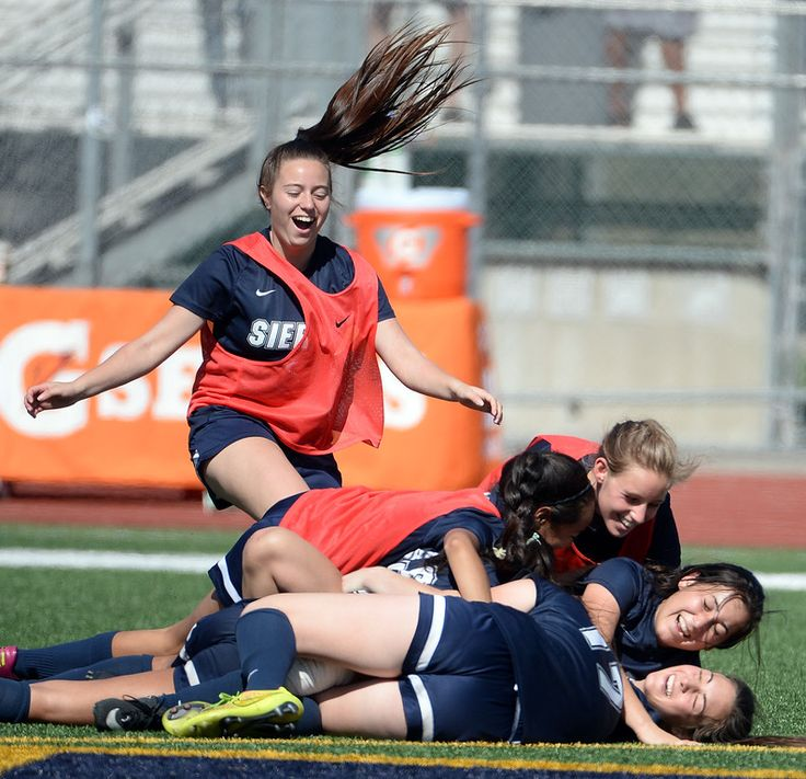 Description of . Sierra Canyon celebrates after defeating La Serna 4-2 to win the Division 5 CIF Championship soccer match at Warren High School in Downey, Calif., on Saturday, March 7, 2015. (Photo by Keith Birmingham/ Pasadena Star-News)