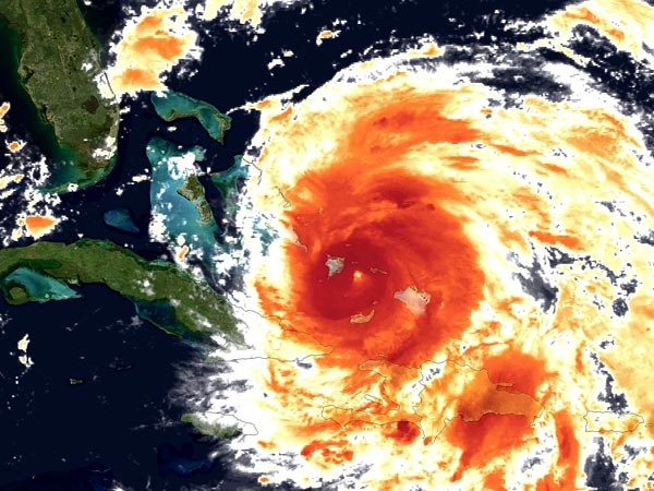 Hurricane Irene churns over the Caribbean Wednesday in an infrared satellite picture. Image courtesy NOAA