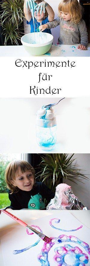 Experimente für Kinder mit Wow-Effekt für Kindergarten, Schule und Zuhause: Vulkan aus Alufolie, Wolke aus Rasierschaum, Oobleck selber machen, malen mit Salz