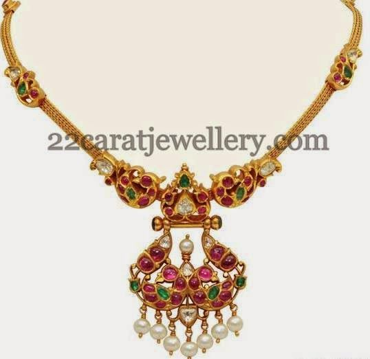 Jewellery Designs: Ruby Temple Choker by VBJ