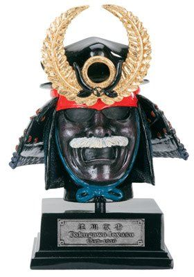 Japanese Samurai  Helmet Tokugawa Ieyasu Collectible Figurine Statue -- Check out the image by visiting the link.
