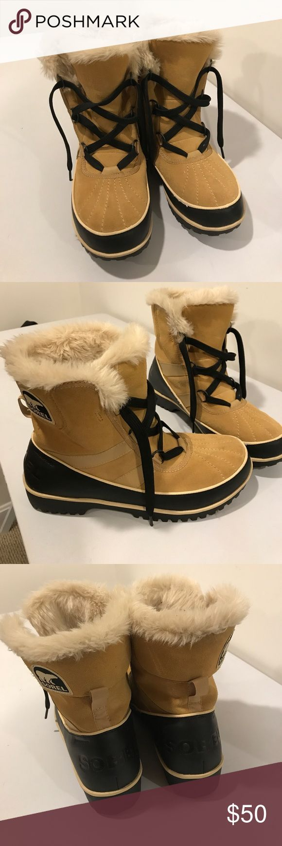 Sorel winter boots These are very warm used a few times and have no damage. These are very warm and offer a snug fit for snow days or chilly days. I offer a 15% discount on bundel items 2 or more.😊 Sorel Shoes Winter & Rain Boots
