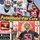 """Download the Ronbo Sports app to join the show Watch Youtube live: https://youtu.be/7vfVE5j2wkI Starting at 7:00 PM PDT Keith Reaser, Garrett Celek, Ronald Blair, Victor Bolden, Chris Jones are mostly all going to stay in the NFL, but will it be with the suddenly, and distance above the Baalke era better """"next generation 49ers""""? Keith Reaser has had a very good camp so far. The switch to the 4-3 defensive system, and his physical stature vaults taller, longer limbed players Dontae Johnson…"""