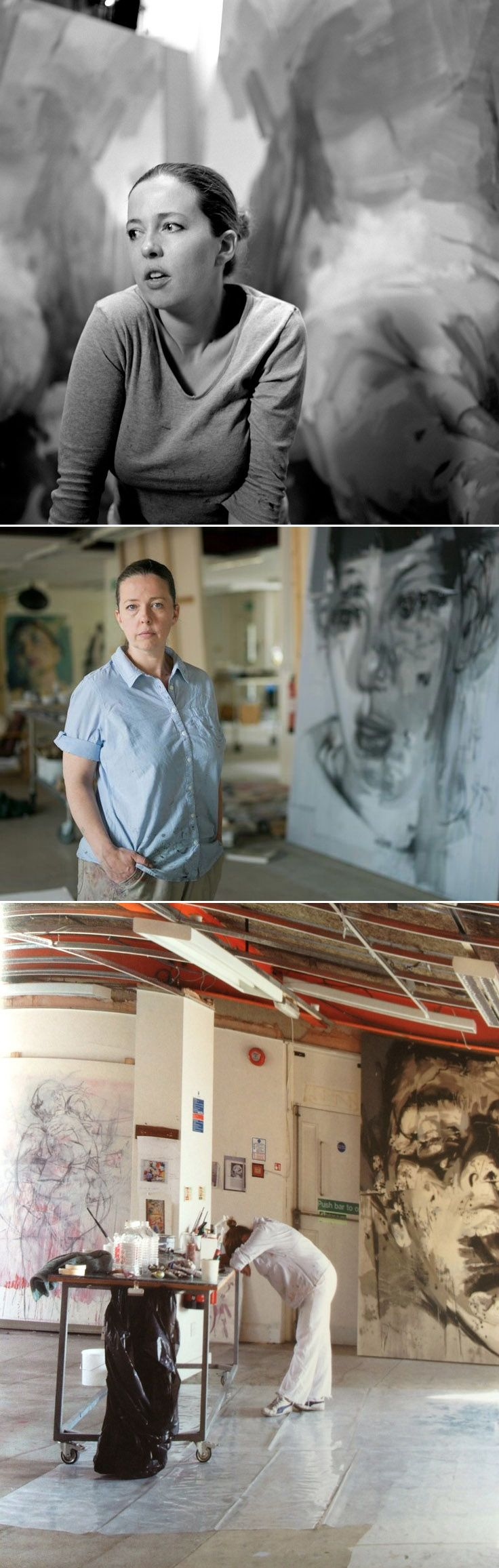 Jenny Saville (b1970 Cambridge, United Kingdom). One of the best painters of…