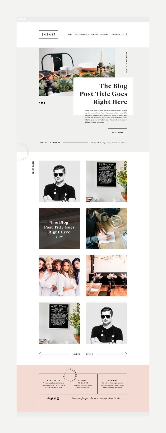 24 East   Branding + Web Design by Rowan Made