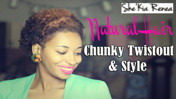 A Chunky Twist-Out Tutorial for Short Natural Hair (TWA) | My Natural Black Hair
