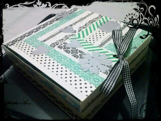 Cajita de regalo #handmade100 % #Sizzix #washitape - Belore Crafts