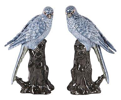 """Komplet 2 dekoracji """"Parrots"""", 11 x 7 x 20 cm"""