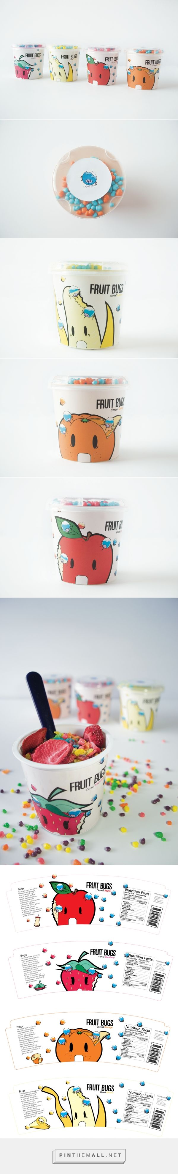 Graphic design, illustration and packaging for FRUIT BUGS on Behance by Kaito Watanabe 静岡市 (Shizuoka), Japan curated by Packaging Diva PD. The cutest cereal packaging for the smile file : )