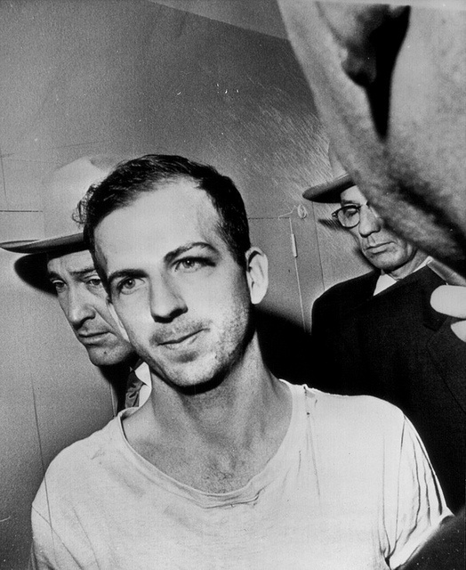 Lee Harvey Oswald 1963; charged with the assassination of President Kennedy and the murder of police officer J. D. Tippit, who was killed on a Dallas street approximately 45 minutes after President Kennedy was shot, but denied involvement in either of the killings