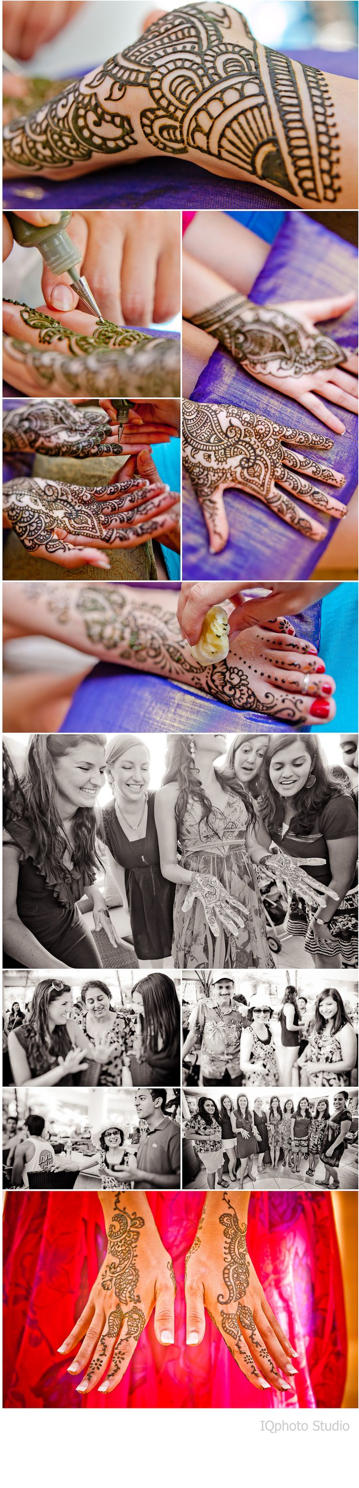 Indian Wedding (Henna). We also had henna artists at our wedding reception so people could get henna.
