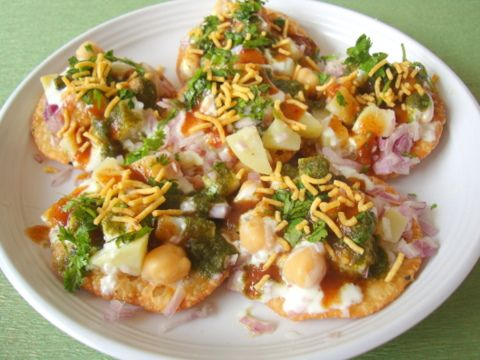Chaat Papdi -- Indian for chips and salsa.  Best so far I've found is at the Indian Palace in Las Vegas.