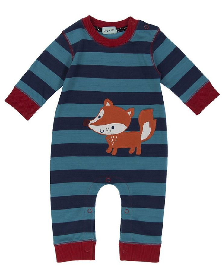 Lilly & Sid Applique Playsuit - Mr Fox