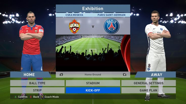 CSKA Moskva vs Paris Saint-Germain FC, VEB Arena, PES 2016, PRO EVOLUTION SOCCER 2016, Konami, PC GAMEPLAY, PCGAMEPLAY