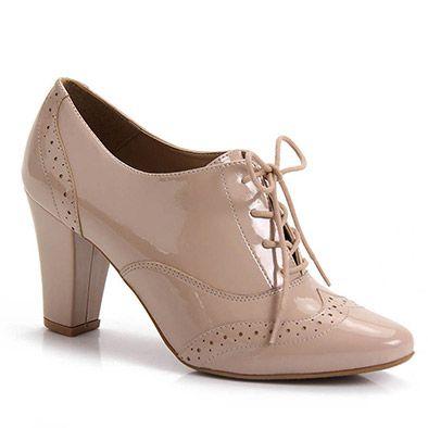 Sapato Oxford Feminino Bruna Rocha - Nude - Passarela.com
