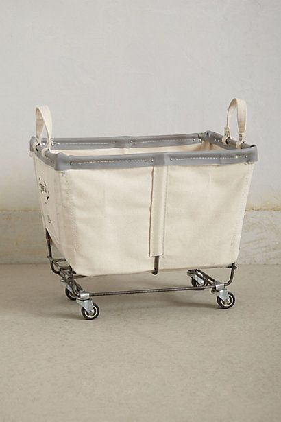 Laundry? Mobile Canvas Bin   #anthropologie