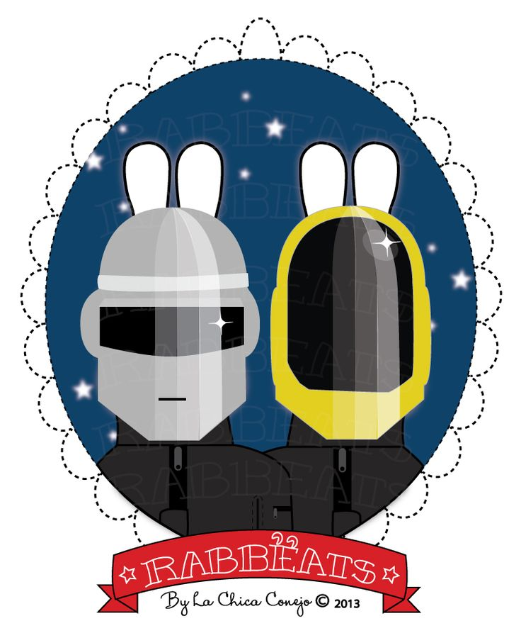 Robot Rabbëats* © Rabbëats by La Chica Conejo 2013 All Rights Reserved #daftpunk #harder #better #faster #stronger