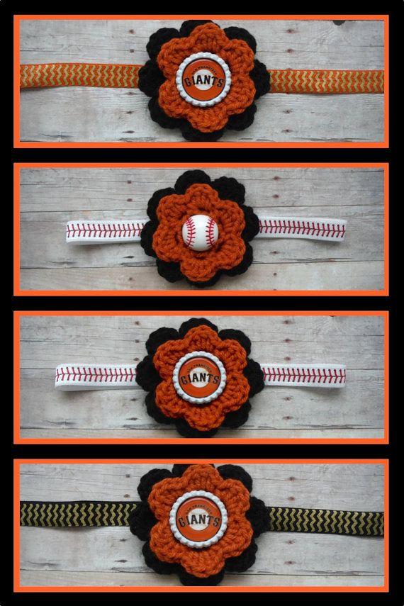 Giants Headband - Giants Baseball Headband - Girls Baseball Headband - San Fransico Giants