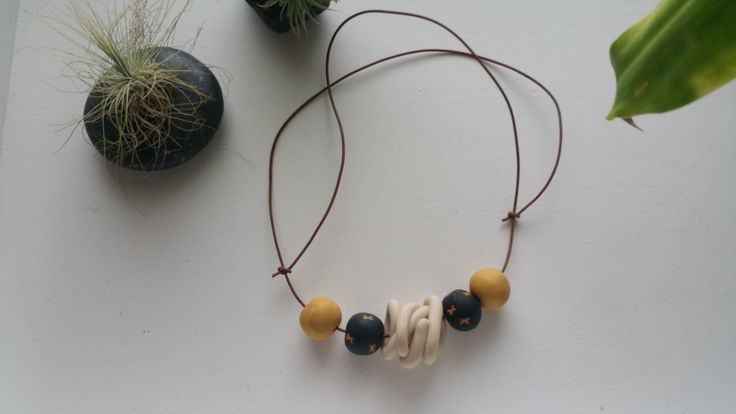 Polymer Clay Necklace - Crosshair by BowmanAndQueen on Etsy